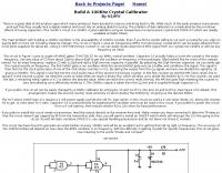 Build A 100Khz Crystal Calibrator