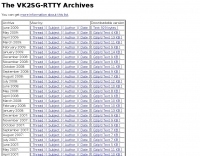 The VK2SG-RTTY Archives