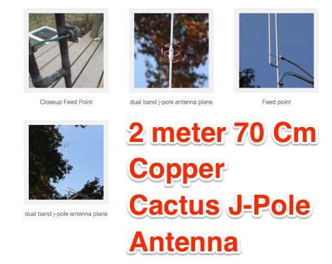 Copper Cactus J-pole VHF antenna