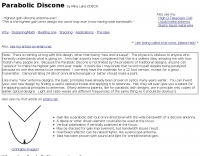 Parabolic Discone antenna