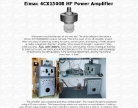 N1IBC Eimac 4CX1500B HF Power Amplifier