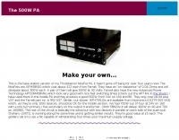 G3YXM  500 W solid state amplifier