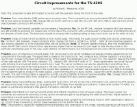 Circuit Improvements for the TS-430S