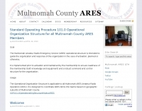 Multnomah County ARES