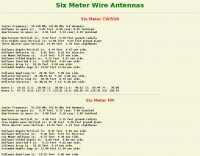 6 meter wire antenna calculations