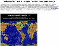 Near-Real-Time F2-Layer Critical Frequency Map