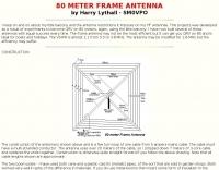 80 meter frame antenna