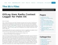 GOLog Contest Logger for Palm OS