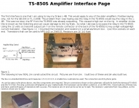 TS-850S Amplifier Interface