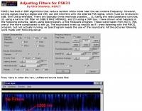 Adjusting Filters for PSK31