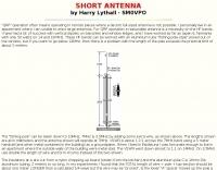 Short HF Antenna