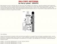 HF Balcony antenna