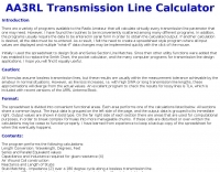 AA3RL Transmission Line Calculator