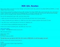 MIR QSL Routes