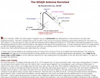 W5QJR Antenna Revisited