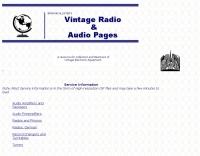 Vintage Radio  & Audio pages