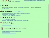 FM only radios