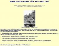 HB9RU/MTN Beam antenna