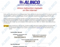Alinco Manuals