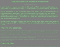 Simple Reverse Polarity Protection
