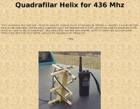 Quadrafilar Helix antenna for 436 Mhz