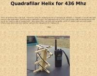 Quadrifilar Helix antenna for 436 MHz