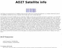 AO-27 Satellite page