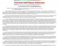 N2CX on End-Fed Halfwave Antennas