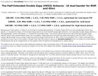 40-80 Half-Extended Double Zepp Antenna