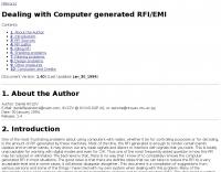 Sci.Electronics :  RFI/EMI Info