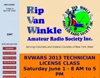 K2RVW Rip Van Winkle Amateur Radio Society, Inc.