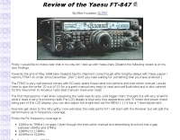 Review of the Yaesu FT-847