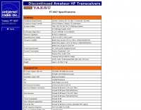 Yaesu FT-847 Specifications