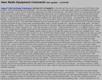 Yaesu FT-847 Equipment Comments