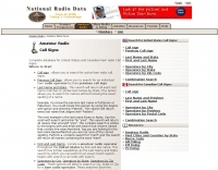 National Radio Data - Call Signs database.