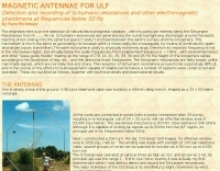 Magnetic antenna fo ULF