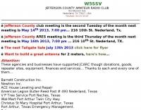 W5SSV Jefferson County Amateur Radio  Club