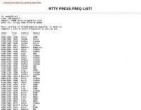 RTTY Press Freq list
