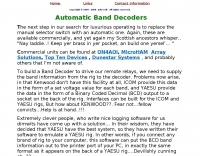 Automatic Band Decoders
