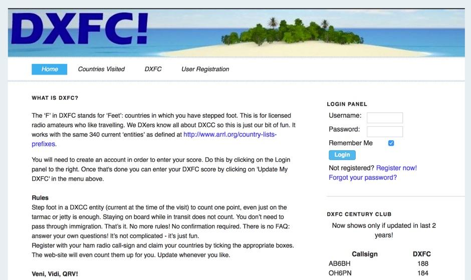 The DXFC Web Site