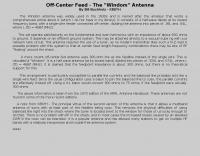 Off-Center Feed - The Windom Antenna
