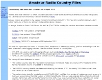 Amateur Radio Country Files