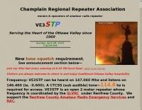 VE3STP Champlain Regional Repeater Association