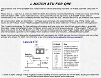 L Match ATU for QRP