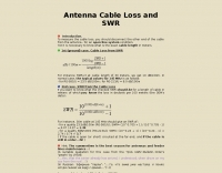 Antenna Cable Loss and SWR