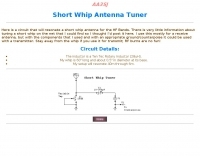 Short Whip Antenna Tuner