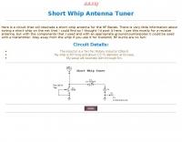 Short Whip Antenna Tuner
