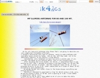 IK4DCS 80-160 mt Sloper antennas