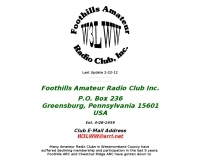 W3LWW Foothills Amateur Radio Club