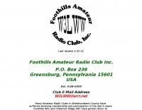 W3LWW Foothills Amateur Radio Club
